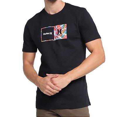 Camiseta Hurley Silk Oversize Effect Masculina Preto