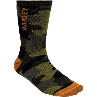 Meia Oakley Camo Crew Sock Cano Alto Verde Camuflado