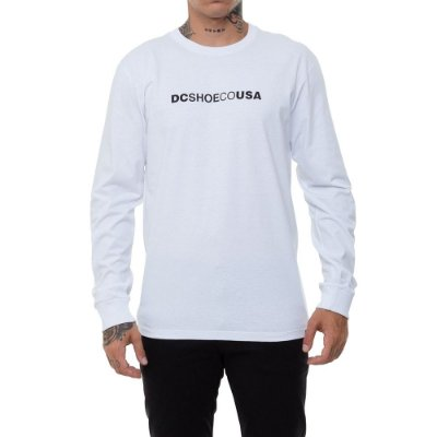 Camiseta DC Shoes Manga Longa Dcshoecousa Masculina Branco