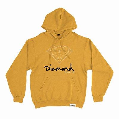 Moletom Diamond OG Sign Hoodie Plus Size Masculino Amarelo