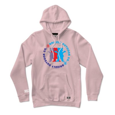 Moletom Grizzly Faceoff Hoodie Plus Masculino Rosa