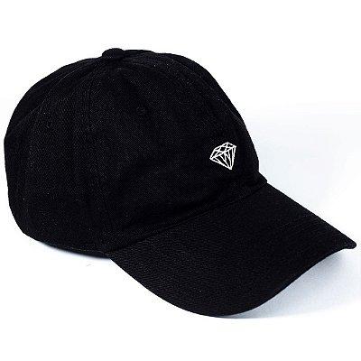 Boné Diamond Aba Curva Micro Brilliant Dad Hat Preto