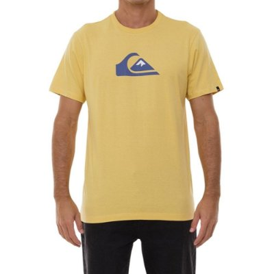 Camiseta Quiksilver Comp Logo Masculina Mostarda