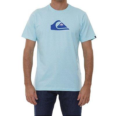Camiseta Quiksilver Comp Logo Masculina Azul Claro