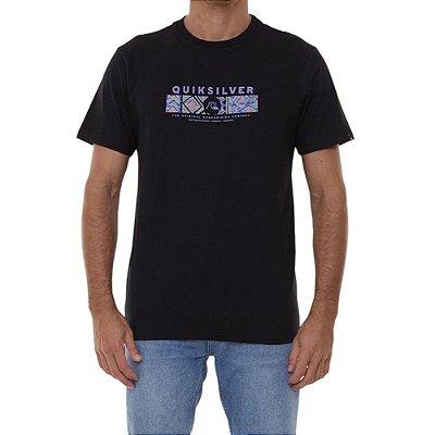 Camiseta Quiksilver Wrap It Up Masculina Preto