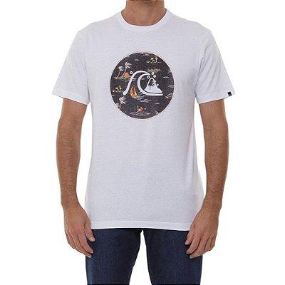 Camiseta Quiksilver Jungle Boogie Masculina Branco