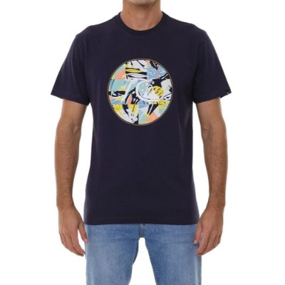 Camiseta Quiksilver Jungle Boogie Masculina Azul Marinho