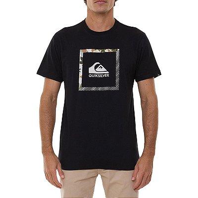 Camiseta Quiksilver Slab The Square Masculina Preto