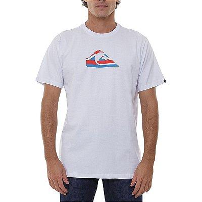 Camiseta Quiksilver Hi Logo Masculina Branco