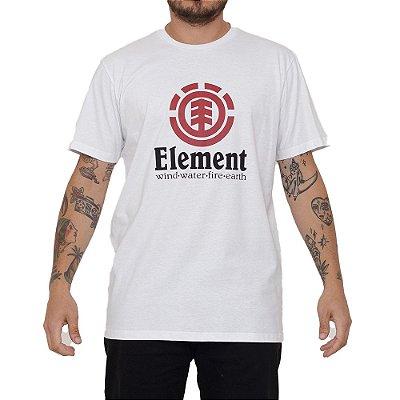 Camiseta Element Vertical Masculina Branco