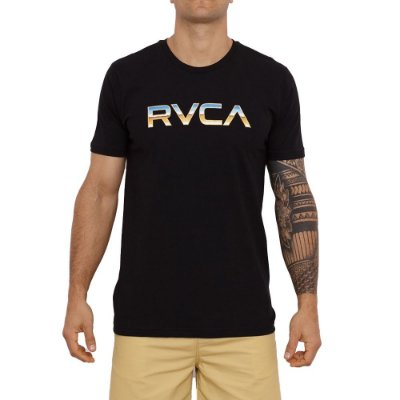 Camiseta RVCA Krome Masculina Preto