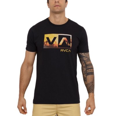 Camiseta RVCA Balance Box II Masculina Preto