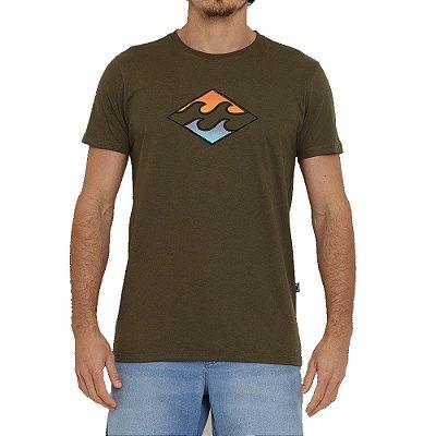 Camiseta Billabong Crayon Wave I Masculina Verde
