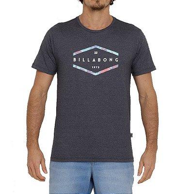 Camiseta Billabong Entry Masculina Cinza Escuro