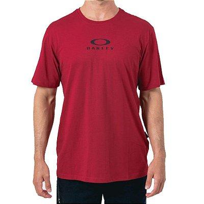 Camiseta Oakley Bark New Masculina Vermelho
