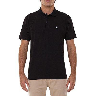 Camisa Polo Quiksilver Transfer Masculina Preto