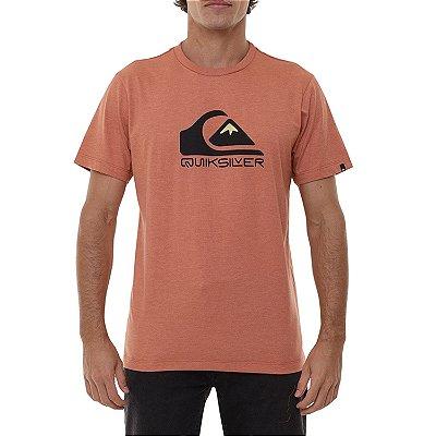 Camiseta Quiksilver Squar Me Up Masculina Laranja