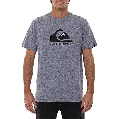 Camiseta Quiksilver Squar Me Up Masculina Cinza