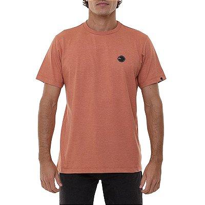 Camiseta Quiksilver Patch Round Masculina Laranja