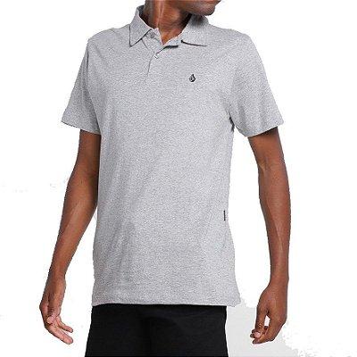 Camisa Polo Volcom Corporate Masculina Mescla Cinza