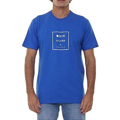 Camiseta Quiksilver Squared Up Masculina Azul