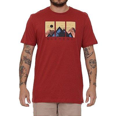 Camiseta Element Genzer Masculina Vermelho
