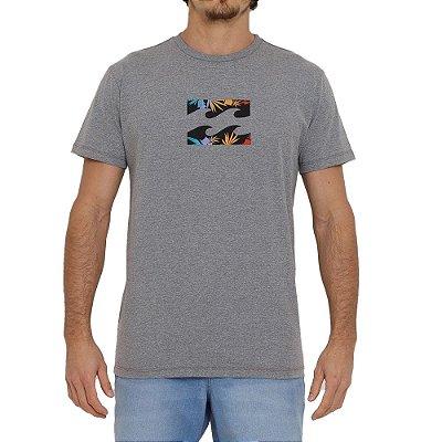 Camiseta Billabong Team Wave Masculina Cinza