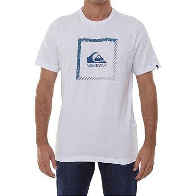 Camiseta Quiksilver Slab The Square Masculina Branco