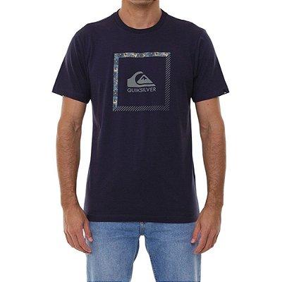 Camiseta Quiksilver Slab The Square Masculina Azul Marinho