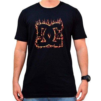 Camiseta DC Shoes DC Fuego Masculina Preto