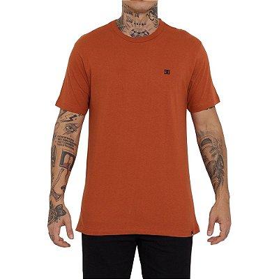 Camiseta DC Shoes Embroidery Star Masculina Laranja