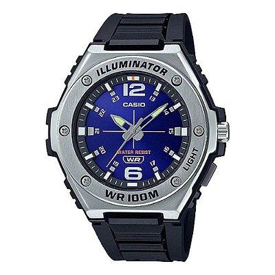 Relógio Casio Standard MWA-100H-2AVDF Preto/Azul