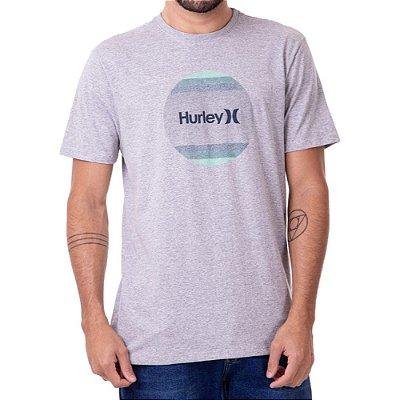 Camiseta Hurley Gradiente Masculina Cinza Mescla
