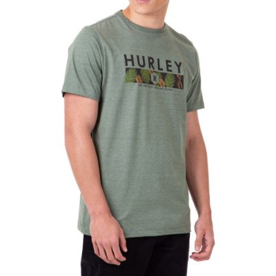 Camiseta Hurley Print And Destroy Masculina Verde Escuro