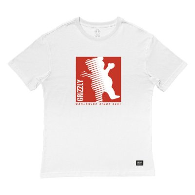 Camiseta Grizzly On The Grind SS Masculina Branco