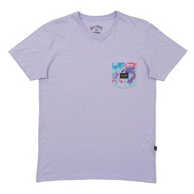 Camiseta Billabong Team Pocket Masculina Lilas