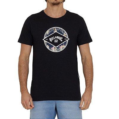 Camiseta Billabong Rotor Arch I Masculina Preto