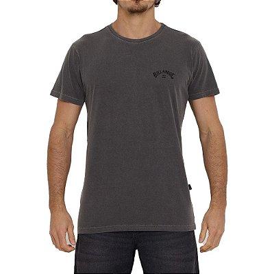 Camiseta Billabong Arch Wave Masculina Cinza Escuro