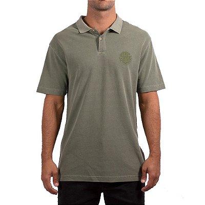 Camisa Polo Rip Curl Round Logo Masculina Verde