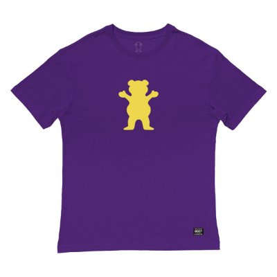 Camiseta Grizzly OG Bear Tee Masculina Roxo