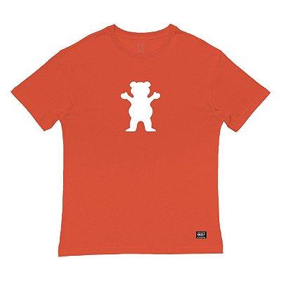 Camiseta Grizzly OG Bear Tee Masculina Laranja