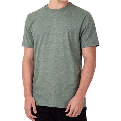 Camiseta Hurley Mini Icon Masculina Verde Mescla