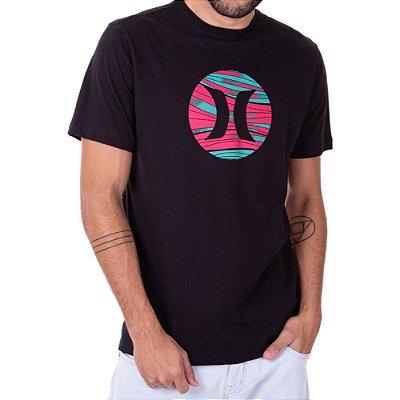 Camiseta Hurley Layers Masculina Preto