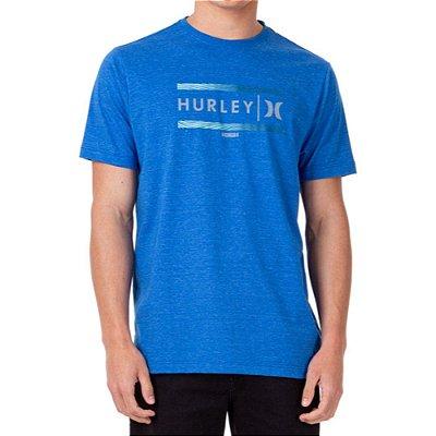 Camiseta Hurley Est Masculina Azul Mescla