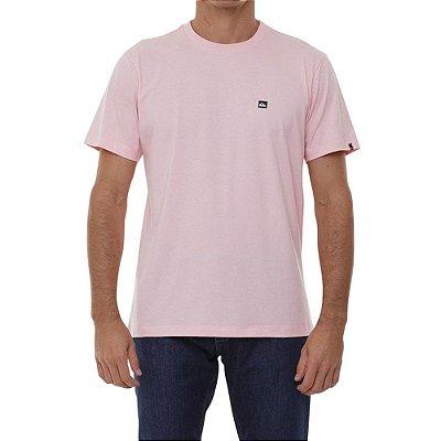 Camiseta Quiksilver Transfer Masculina Rosa Claro