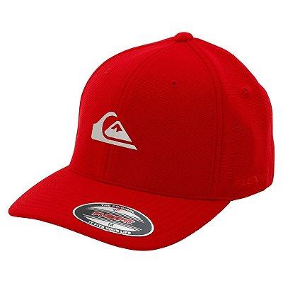 Boné Quiksilver Aba Curva Transfer Logo Vermelho