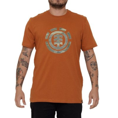 Camiseta Element Landscape Camo Masculina Marrom