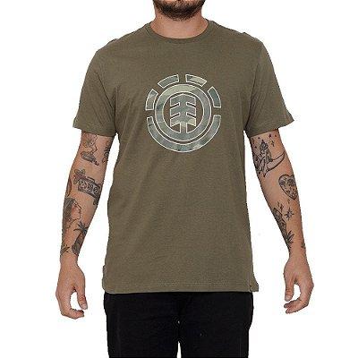 Camiseta Element Landscape Camo Masculina Verde Escuro