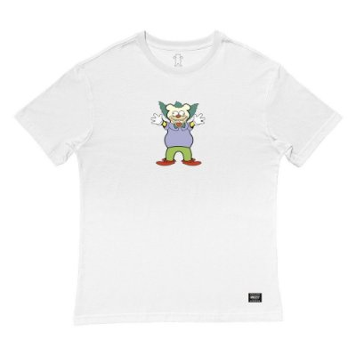 Camiseta Grizzly Clownin SS Tee Masculina Branco