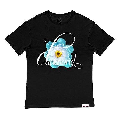 Camiseta Diamond Flower Child Tee Masculina Preto